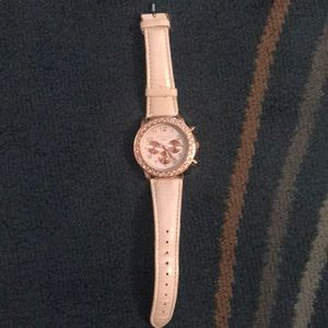 Aeropostale White Rose Gold Watch
